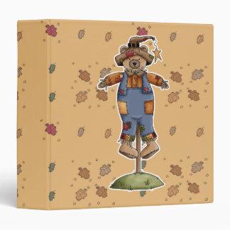 cute scarecrow bear 3 ring binders