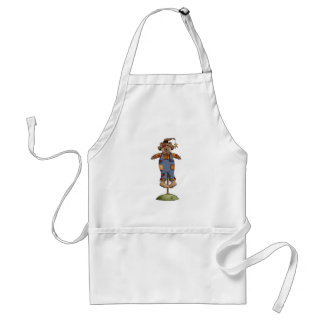 cute scarecrow bear adult apron
