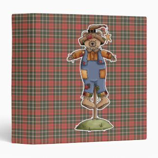 cute scarecrow bear binder