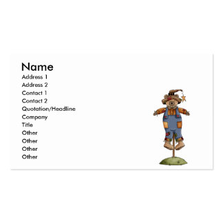 cute scarecrow bear Double-Sided standard business cards (Pack of 100)