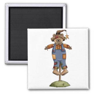 cute scarecrow bear fridge magnets