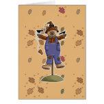 cute scarecrow bear II Greeting Card
