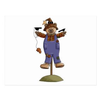 cute scarecrow bear II Post Cards