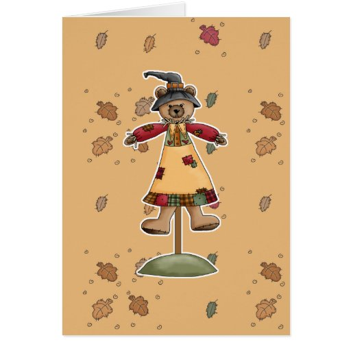 cute scarecrow bear III Greeting Card