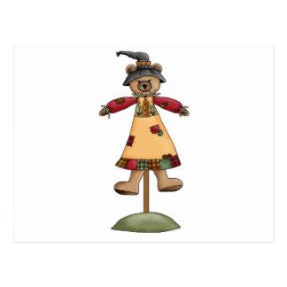 cute scarecrow bear III Post Card