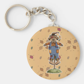 cute scarecrow bear key chain