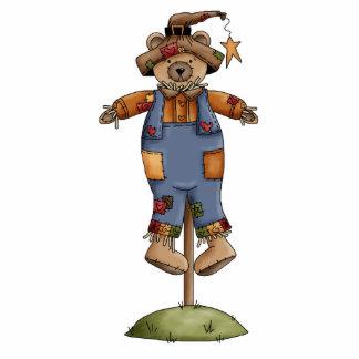 cute scarecrow bear photo cutouts