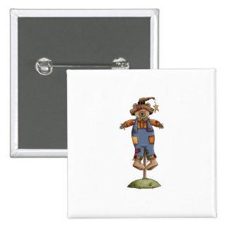 cute scarecrow bear pins