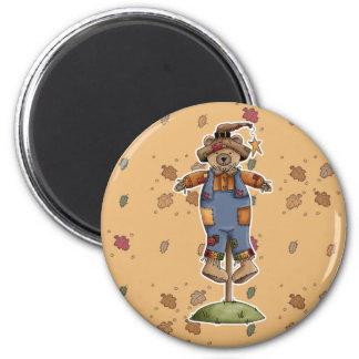 cute scarecrow bear refrigerator magnet