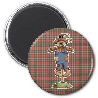cute scarecrow bear refrigerator magnets