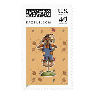 cute scarecrow bear stamp