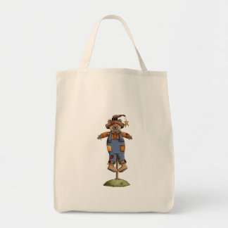 cute scarecrow bear tote bags
