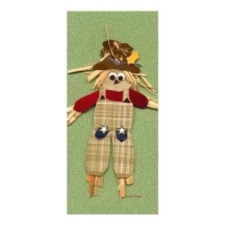 Cute Scarecrow Bookmark Rack Card