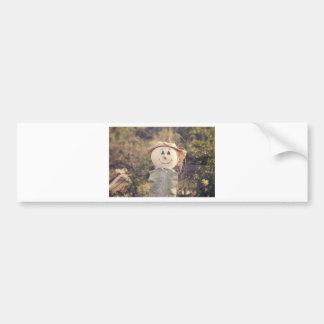 Cute Scarecrow Car Bumper Sticker