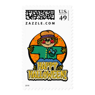 Cute Scarecrow Halloween Stamps