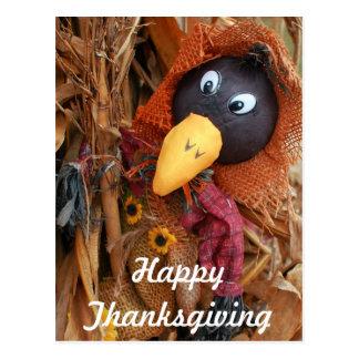 Cute Scarecrow Harvest Thanksgiving Postcard