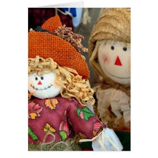 Cute Scarecrows Card