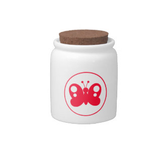 Cute Scarlet Red Buttefly Candy Dish