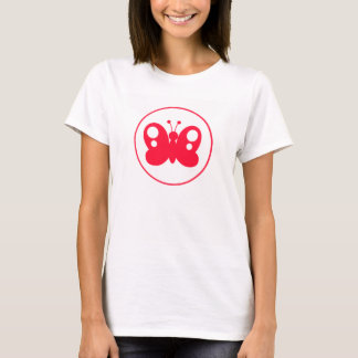 Cute Scarlet Red Buttefly T-Shirt