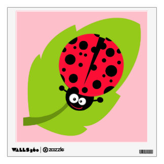 Cute Scarlet Red Ladybug Room Stickers