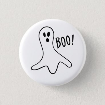 Halloween Themed Cute Scary Halloween Ghost Fun Round Pin Button