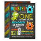 Cute Scary Little Monsters Birthday Card