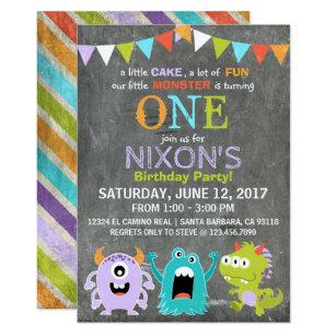 Monster 1st Birthday Invitations Zazzle