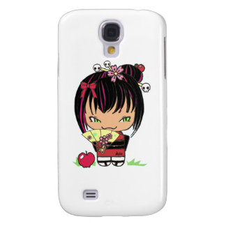Cute Scary Miao - gothic kokeshi doll Samsung Galaxy S4 Cover