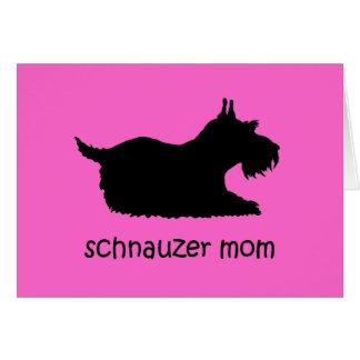 Cute Schnauzer Greeting Card