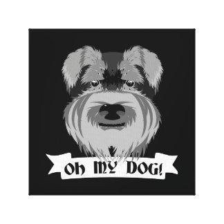 Cute Schnauzer Oh My Dog Canvas Print