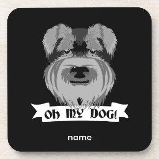 Cute Schnauzer Oh My Dog Coaster