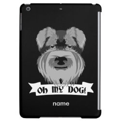 Case Savvy Glossy Finish iPad Air Case with Miniature Schnauzer Phone Cases design