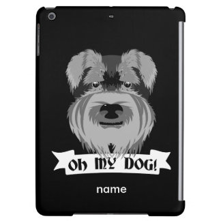 Cute Schnauzer Oh My Dog Cover For iPad Air