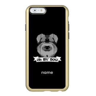 Cute Schnauzer Oh My Dog Incipio Feather® Shine iPhone 6 Case