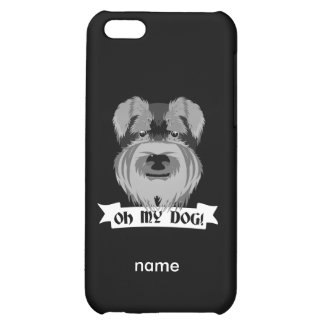 Cute Schnauzer Oh My Dog Cover For iPhone 5C