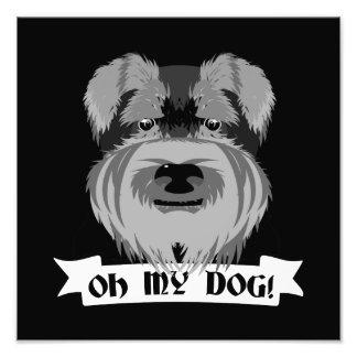 Cute Schnauzer Oh My Dog Photo Print