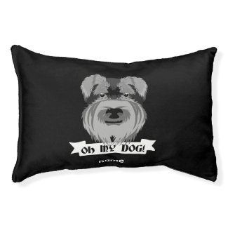 Cute Schnauzer Oh My Dog Small Dog Bed