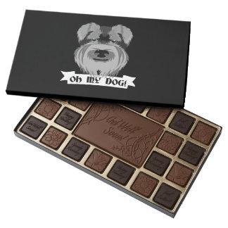Cute Schnauzer Oh My Dog 45 Piece Box Of Chocolates