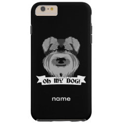 Case-Mate Barely There iPhone 6 Plus Case with Miniature Schnauzer Phone Cases design