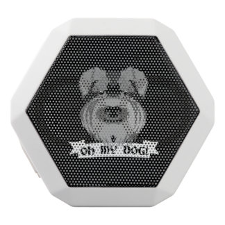 Cute Schnauzer Oh My Dog White Bluetooth Speaker