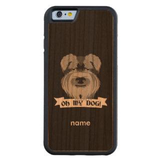 Cute Schnauzer Oh My Dog Carved® Cherry iPhone 6 Bumper Case