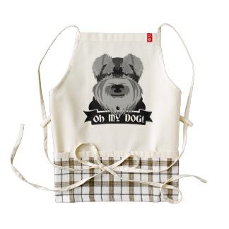 Cute Schnauzer Oh My Dog Zazzle HEART Apron