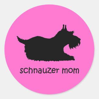Cute Schnauzer Round Stickers
