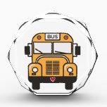 "Cute School Bus Acrylic Award<br><div class=""desc"">School bus design for bus driver gifts</div>"