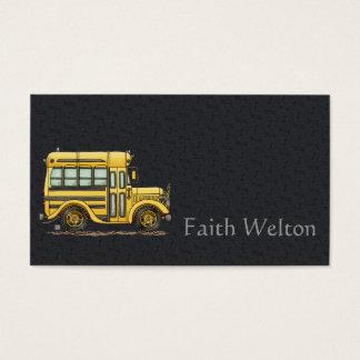 Cute School Bus Business Card