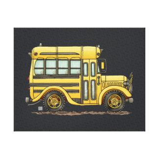 Cute School Bus Canvas Print