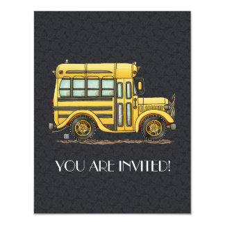 Cute School Bus Card