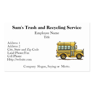 Cute School Bus Double-Sided Standard Business Cards (Pack Of 100)
