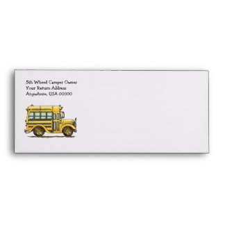 Cute School Bus Envelope