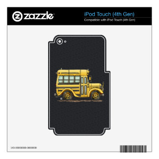 Cute School Bus iPod Touch 4G Decal